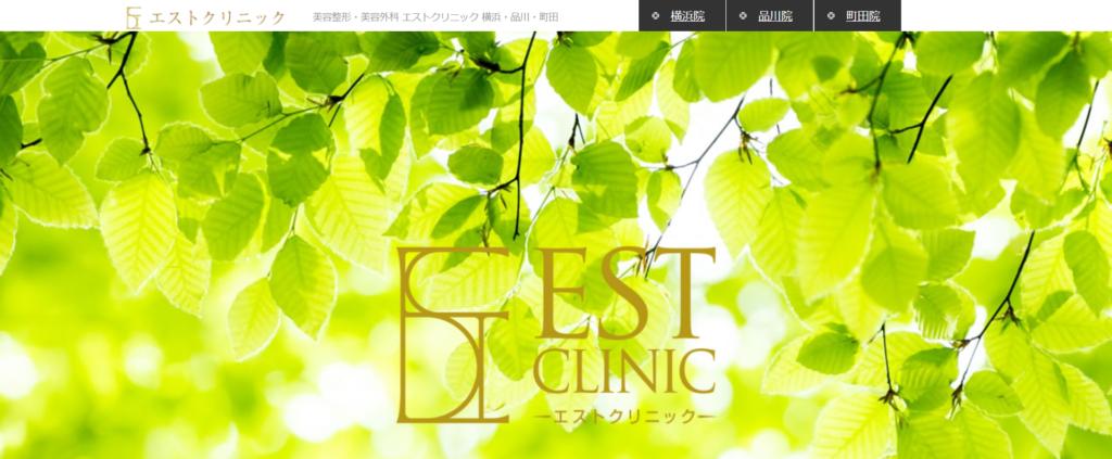 エストクリニックのホームページ画像